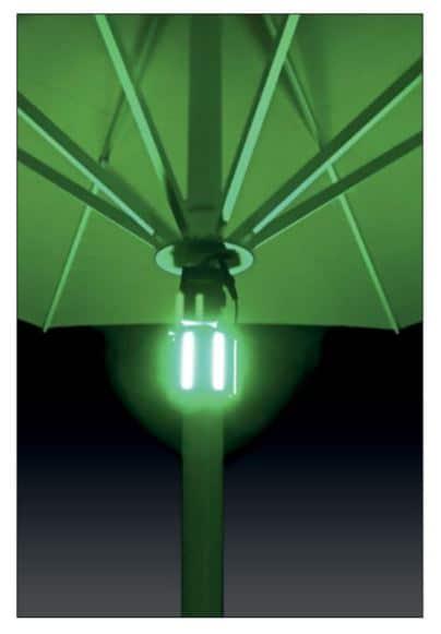 Akku LED Leuchte für Sonnenschirm