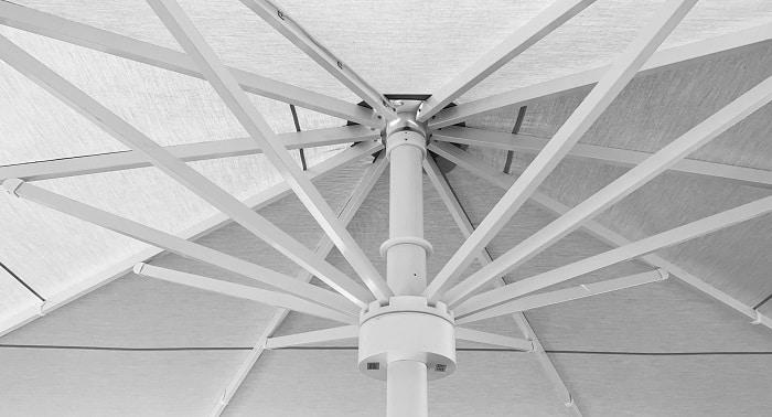 windstabiler Gastro sonnenschirm Streben
