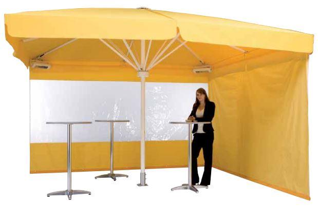 Sonnenschirm als Pavillon