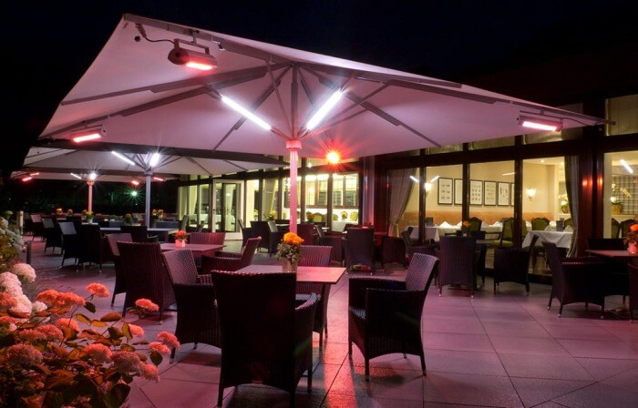 Caravita Big Ben Gastronomie Sonnenschirm mit Beleuchtung